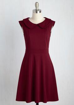 Foxtail & Fern Dress in Merlot