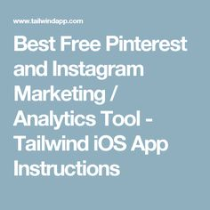Tailwind: How to Schedule with iOS App Pinterest For Business, Online Jobs, Ios App, Mobile App, Schedule, Easy Diy, Tools, Marketing, Envy