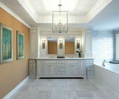 Traditional white wood Bathroom sink