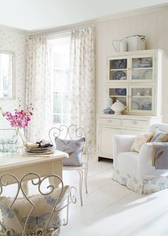 #shabby #white with  touches of light blue