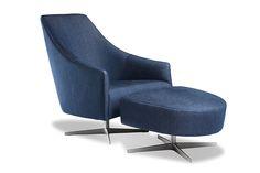 Lunar Chair and Ottoman by Arthur G | Australian Made | Australian Designed | Denim Chair | www.arthurg.com.au/range | Melbourne | Sydney | Perth