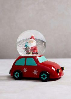 Father Christmas Car Snow Globe (14cm x 13cm x 11cm) View 1