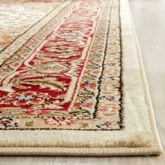 Lyndhurst Ivory/Red 10 ft. x 14 ft. Area Rug-LNH330A-10 - The Home Depot