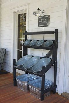 Shelves for a Farm Store or Farmer's Market. I love these!!!