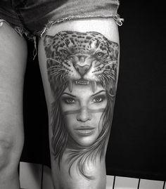 Leopard tattoo heale