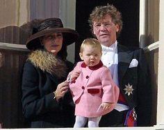 Princess Caroline of Hanover and Monaco with Prince Ernst of Hanover and their daughter Princess Alexandra.