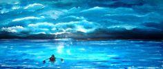 Voor de bui uit.......... Titel: Voor de bui uit.... Techniek: acrylic on cotton premium extra, afgewerkt met varnish voor behoud heldere kleur. Maat 120 x 50 cm. Kan zonder omlijsting opgehangen Waves, Clouds, Outdoor, Outdoors, Ocean Waves, Outdoor Games, The Great Outdoors, Beach Waves, Cloud