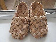 Плетем пасхальные лапти из бересты   Ярмарка Мастеров - ручная работа, handmade