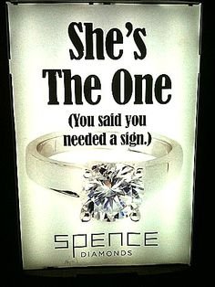 She's the one...