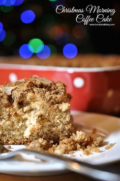 Christmas Morning Coffee Cake - The best overnight coffee cake EVER!! Perfect for Christmas morning or birthdays!
