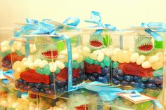 Shark Party Favors, Cute! Or cute for center pieces that the guest can't take home