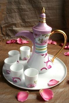 Service à thé - Loukoum à l'eau de rose - Service à thé  - Vous pratiquez la peinture sur porcelaine