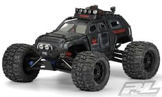 Apocalypse Clear Body Pro-Line Apocalypse body for Summit Monster Truck brings fully armored Military SUV styling to your truck. Add the Stock Summit ExoCage, the Apocalypse comes enhances the indestructible look. Remote Control Boat, Rc Remote, Radio Control, Rc Cars And Trucks, New Trucks, Drones, Pajero Off Road, Rc Track, Rc Off Road