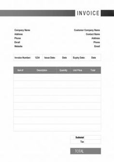 Construction Invoice Template Excel Contractor Invoice Template Excel #invoicetemplate #invoicedesign .