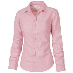 Fat Face Sian Chambray Shirt, Pink (36 PAB) ❤ liked on Polyvore featuring tops, shirts, blouses, pink long sleeve top, extra long sleeve shirts, pink top, pink chambray shirt and pink shirts