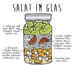 Salat im Glas: