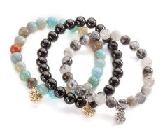 Natural beaded stone Stackable bracelets by Missy Briscoe designs. The perfect addition to any outfit! Buy one get one Free from 8/12/15 to 9/15/15. Use the code FREE BRACELET
