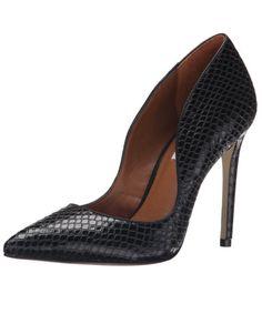 Steve Madden Dipper Dress Pumps http://allthoseshoes.com/shop/steve-madden-dipper/ #heels #pumps #snake #black