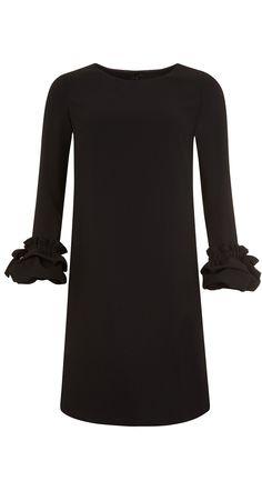 Robe trapèze en crêpe envers satin
