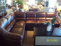 SEE IT, SNAP IT, POST IT Facebook Entry: Leather Sectional