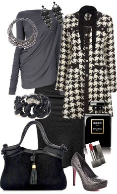 """Houndstooth"" by wharri on Polyvore"