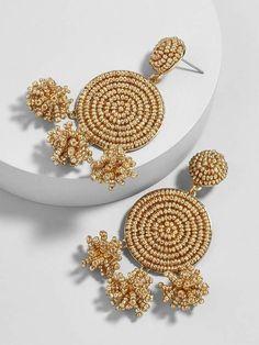 Gold hoop beaded earrings, stud earrings, clip on earrings, Charms earrings