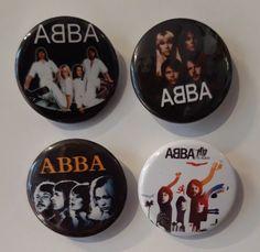 Set of 4 Button Badges. Size: 25 cm (1 inch). Button Badge, Badges, Decorative Plates, Badge, Lapel Pins