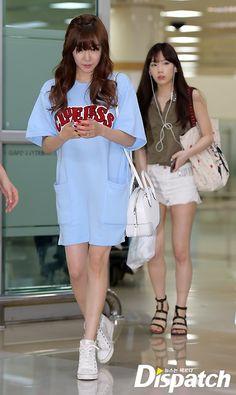 SNSD Tiffany Taeyeon airport fashion July 2014