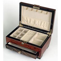 Dark Ash Burlwood Wooden Jewelry Box, only  $219.95 plus free shipping! #jewelry