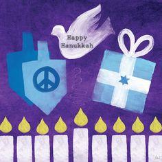 Hanukkah Peace Poster by Linda Woods – Hanukkah Christmas Rock, Christmas Hanukkah, Hannukah, Hanukkah Crafts, Happy Hanukkah Images, Hanukkah Pictures, Canvas Artwork, Canvas Prints, Peace Poster
