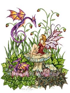 Featuring work from artist Amy Brown a beautiful watching little dragons hatch and take their first steps! Fantasy Dragon, Dragon Art, Elves Fantasy, Amy Brown Fairies, Dark Fairies, Fairy Pictures, Little Dragon, Illustration, Fairy Art