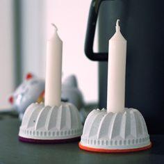 Guglhupf-Kerzenständer, Beton, groß von Frau Hahn auf DaWanda.com
