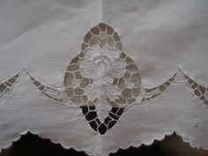 Baby clothes are like little handmade bouquets. Intricate and soft with delicate folds like petals. Awesome in detail. Junk Chic Cottage, Cottage Signs, Cottage Front Porches, White Coverlet, Cutwork Embroidery, Pink Home Decor, Rose Cottage, Pin Tucks, Antique Shops