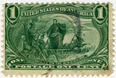 Description US stamp 1898 1c Marquette on the Mississippi.jpg