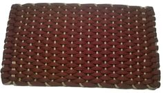 #350 Wine with Tan insert Rockport Rope Doormats 100% made in USA Hand woven