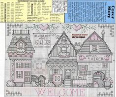 Schema punto croce Blueberry House Quilts 02
