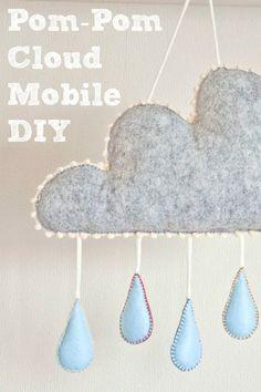 40 Ideas diy crafts for baby nursery cloud mobile for 2019 Cloud Mobile, Baby Mobile, Cool Diy Projects, Projects To Try, Mobiles, Baby Nursery Diy, Diy Wedding Bouquet, Idee Diy, Baby Crafts