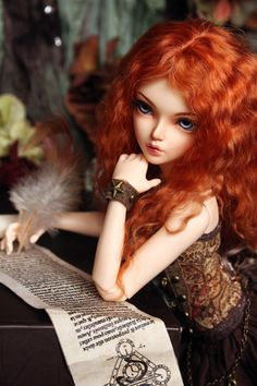 Favorite pastime by Kimirra-bjd on DeviantArt Pretty Dolls, Cute Dolls, Beautiful Dolls, Anime Dolls, Blythe Dolls, Anime Wigs, Divas, Creepy, Enchanted Doll