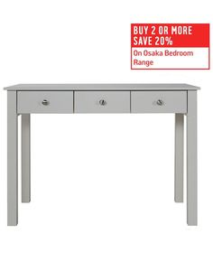 Buy Collection Osaka Dressing Table - Soft Grey at Argos.co.uk - Your Online Shop for Dressing tables.