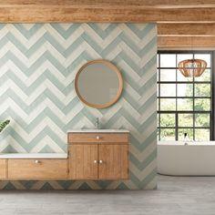Polish Home With A Summer Vibe 42 - homesdeccor Tiny Bathrooms, Beautiful Bathrooms, Small Bathroom, Baths Interior, Bathroom Interior, Blue Glass Tile, Main Door Design, Elegant Home Decor, Bathroom Styling
