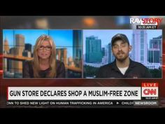 Andy Hallinan talks to CNN about his 'Muslim-free' gun store - YouTube
