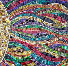 'Radiation' amazing mosaic art by Julie Edmunds facebook: Julie Edmunds Art Glass Mosaics website: http://www.julieedmundsartist.com/