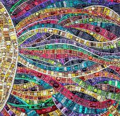 'Radiation' amazing mosaic art by Julie Edmunds facebook: Julie Edmunds Art Glass Mosaics website: http://www.julieedmundsartist.com/