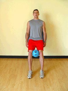 Today's Exercise: Wall Squats with Medicine and Stability Balls