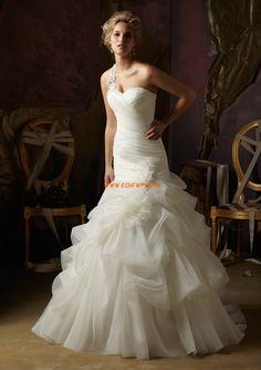 Rectangulaire Hiver Sans manches Robes de mariée 2013