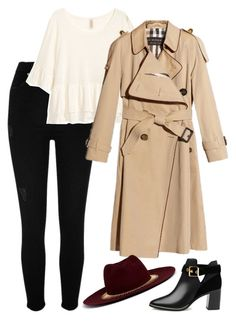 """Sin título #579"" by mary-nava ❤ liked on Polyvore featuring River Island, Ted Baker, Burberry and Venna"
