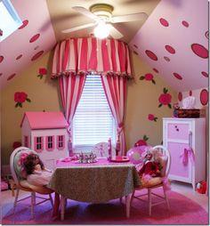 pink girl's playroom