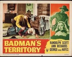 Old Western Movies, Western Film, Ann Richards, Randolph Scott, Film Posters, Westerns, Actors, Movie, Film Poster