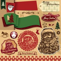 Different Christmas ornaments Illustration vector 04