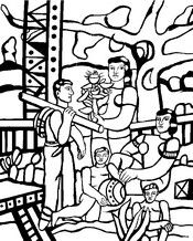 Adult coloring page The camper